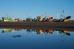 Fishing Boat Reflections Stock Image