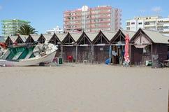 Free Fishing Boat Repairs, Monte Gordo Beach, Portugal Royalty Free Stock Photos - 177637858