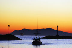 Fishing Boat Return Royalty Free Stock Photography