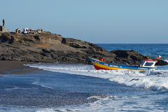 Fishing Boat Returns with the Catch Stock Photography