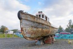 Fishing boat in Reykjavik Stock Photo