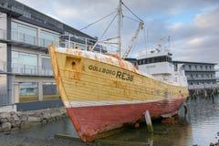 Fishing boat in Reykjavik Royalty Free Stock Image