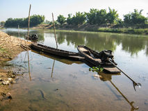 Fishing boat in River Royalty Free Stock Photos