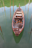 Fishing Boat. River with fishing boats moored Stock Photography