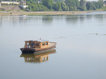 Fishing boat on the river Loire Stock Photos