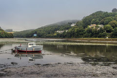 Fishing boat in the River Looe Stock Images