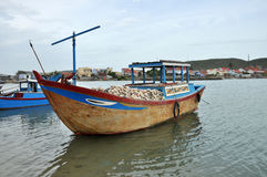 Fishing Boat on river, Vietnam. Royalty Free Stock Image