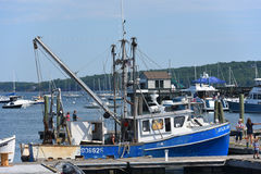 Fishing Boat at Rockland, Maine Stock Images