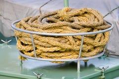 Fishing boat rope Royalty Free Stock Photos