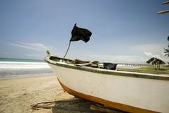 Fishing boat on ruta del sol ecuador Stock Photo