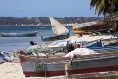 Fishing boat with a sail, Amoronia orange coast, Madagascar, Stock Photography
