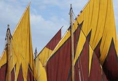 Fishing boat sails Royalty Free Stock Photo