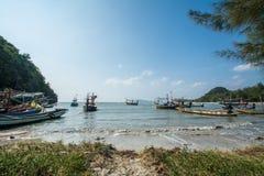 Fishing boat at Sampraya beach in Samroiyod nation park, Pranburi, Thailand Stock Images