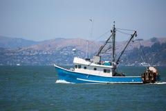 Fishing boat in San Francisco bay Stock Photo