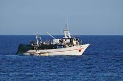 Fishing boat at sea Stock Image