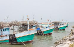 Fishing boat on the sea Stock Photography