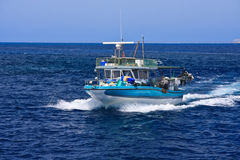 Fishing boat on sea Royalty Free Stock Photography