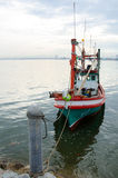 Fishing boat. In the sea Royalty Free Stock Photos