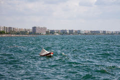 Fishing boat. In the sea Royalty Free Stock Photo