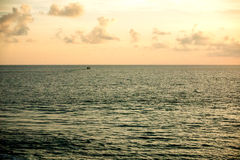Fishing boat in the sea Stock Photography