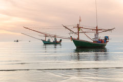 Fishing boat in the sea Royalty Free Stock Images