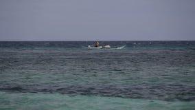 Fishing boat on sea stock video footage