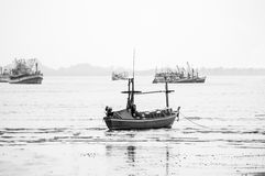Fishing Boat at the Sea Coast Stock Photography