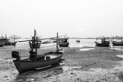 Fishing Boat at the Sea Coast Royalty Free Stock Images