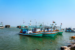 Fishing boat. On the sea in the early morning Royalty Free Stock Image