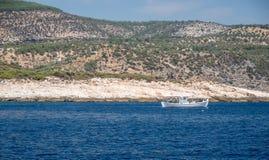 Fishing boat on the sea Stock Photo