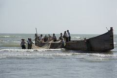 Fishing boat in the sea Royalty Free Stock Photo