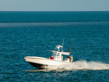 Fishing Boat. At the sea in perfect weather royalty free stock photos