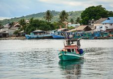 A fishing boat on the sea in Phu Quoc, Vietnam Royalty Free Stock Photography