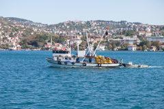 Fishing boat on the sea Royalty Free Stock Images