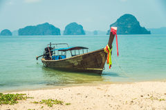 A fishing boat in the sea Stock Photo