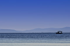 Fishing boat on the sea Stock Image