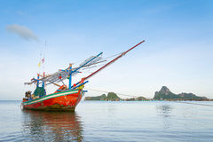Fishing boat on the sea. Stock Photos
