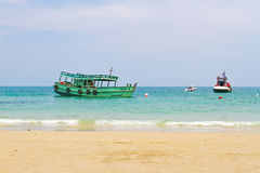 Fishing boat in the sea Royalty Free Stock Photos