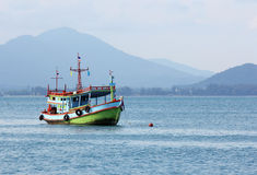 Fishing boat in sea Royalty Free Stock Image