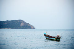 Fishing boat on the sea, thailand Stock Photo
