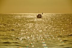 Fishing boat by the sea Royalty Free Stock Photography