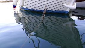 Fishing Boat in the Sea Water. Video stock footage