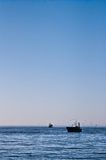 Fishing boat with seagulls in Baltic Stock Photo