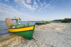 Fishing boat on the seaside Royalty Free Stock Image
