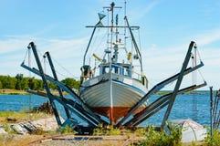 Fishing boat service Stock Image