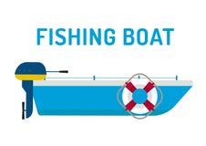 Fishing boat ship vector illustration Stock Photography
