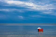Fishing boat on shore of the Baltic Sea Royalty Free Stock Photography