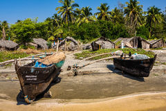 Fishing boat on the shore Royalty Free Stock Photo