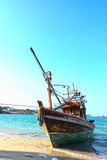 Fishing boat on sichang beach Royalty Free Stock Photos