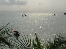 Fishing boat. Small fishing boat from thailand Royalty Free Stock Photos